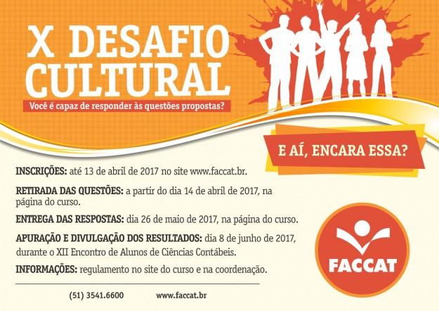 Desafio Cultural de Contábeis 2017